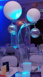 Snow Ball/Glitter Ball Table Centres